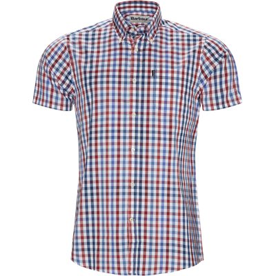 Tattersall6 Short Sleeve Shirt Tailored fit | Tattersall6 Short Sleeve Shirt | Rød