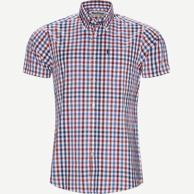 Tattersall6 Short Sleeve Shirt Tailored fit | Tattersall6 Short Sleeve Shirt | Rød