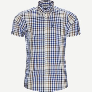 Tattersall6 Short Sleeve Shirt Tailored fit   Tattersall6 Short Sleeve Shirt   Sand