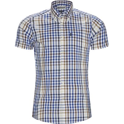 Tattersall6 Short Sleeve Shirt Tailored fit | Tattersall6 Short Sleeve Shirt | Sand