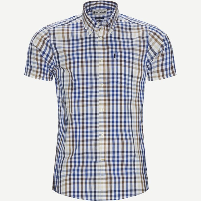 Tattersall6 Short Sleeve Shirt - Kortærmede skjorter - Tailored fit - Sand