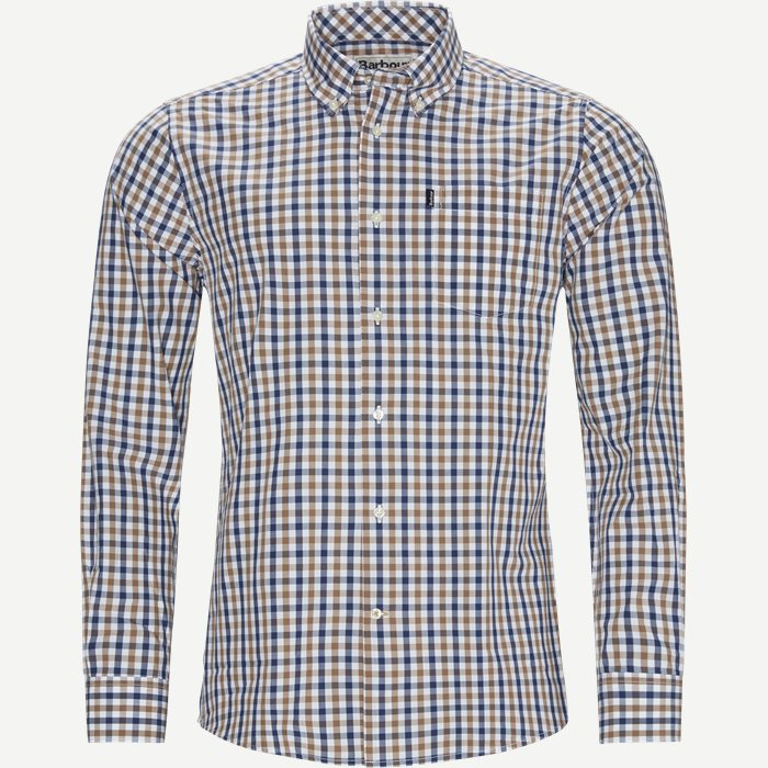 Gingham4 Shirt - Skjorter - Tailored fit - Sand