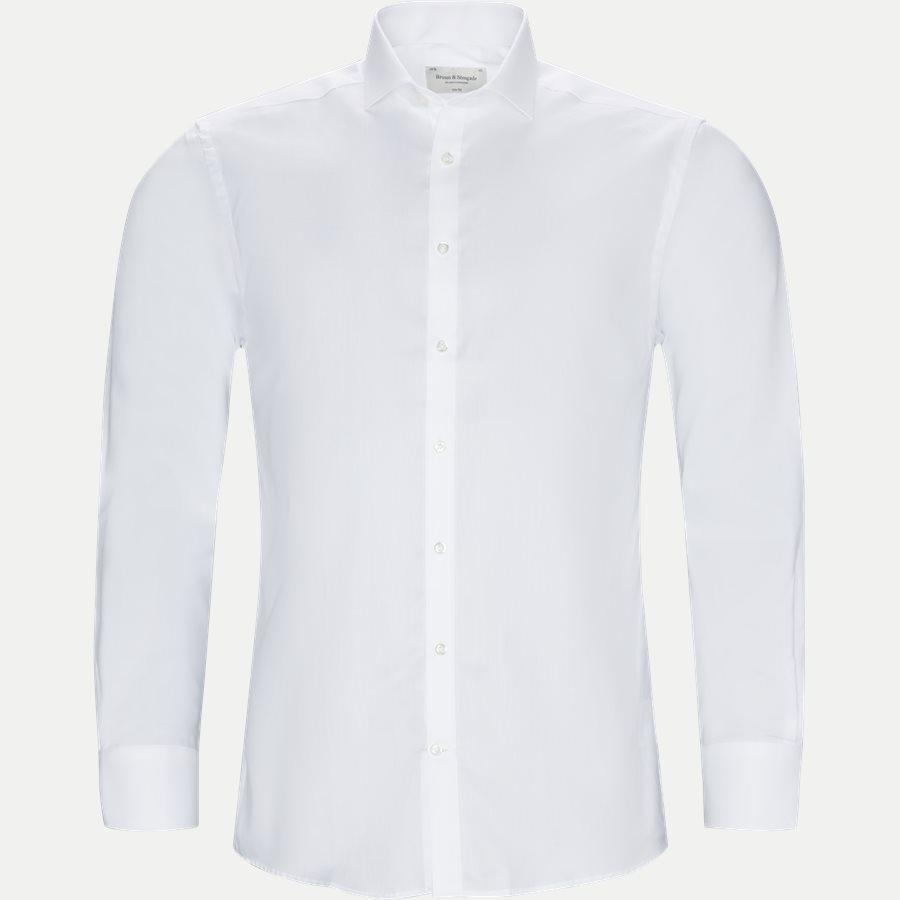 BRUNINHO - Shirts - Slim - HVID - 1