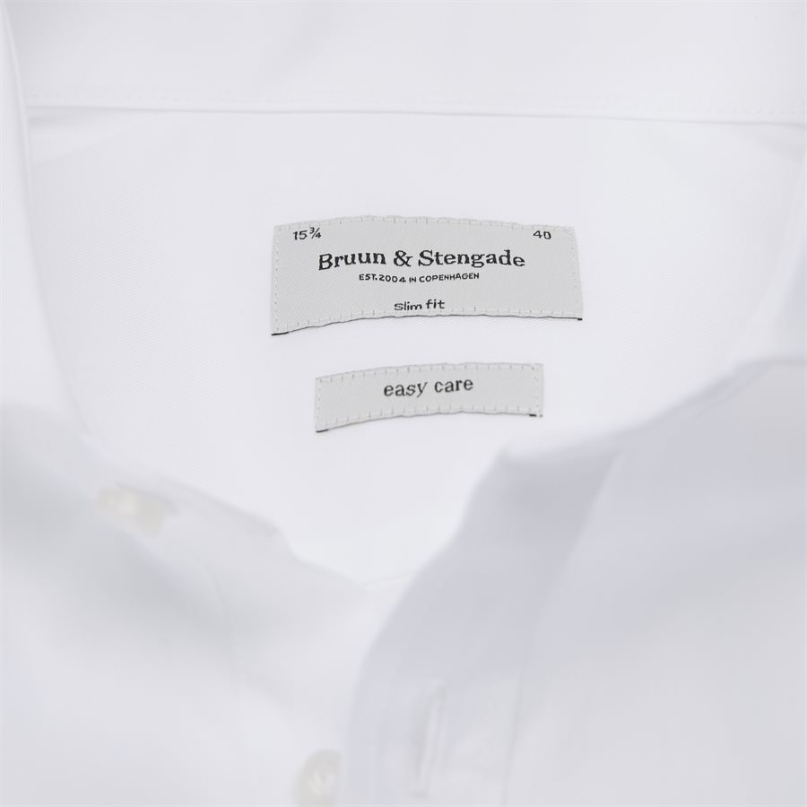 BRUNINHO - Bruninho Skjorte - Skjorter - Slim - HVID - 3
