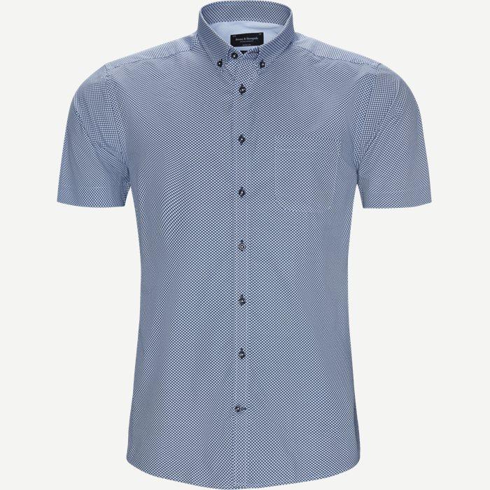 Kortärmade skjortor - Modern fit - Blå