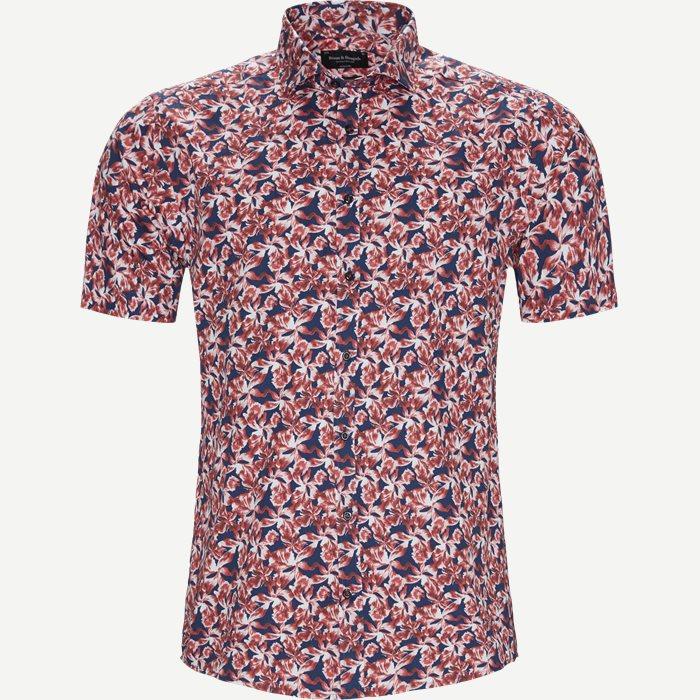 Mouko Skjorte - Kortærmede skjorter - Modern fit - Rød