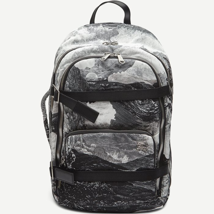 Zip Around Backpack Landscape Print Aviator Nylon - Tasker - Sort