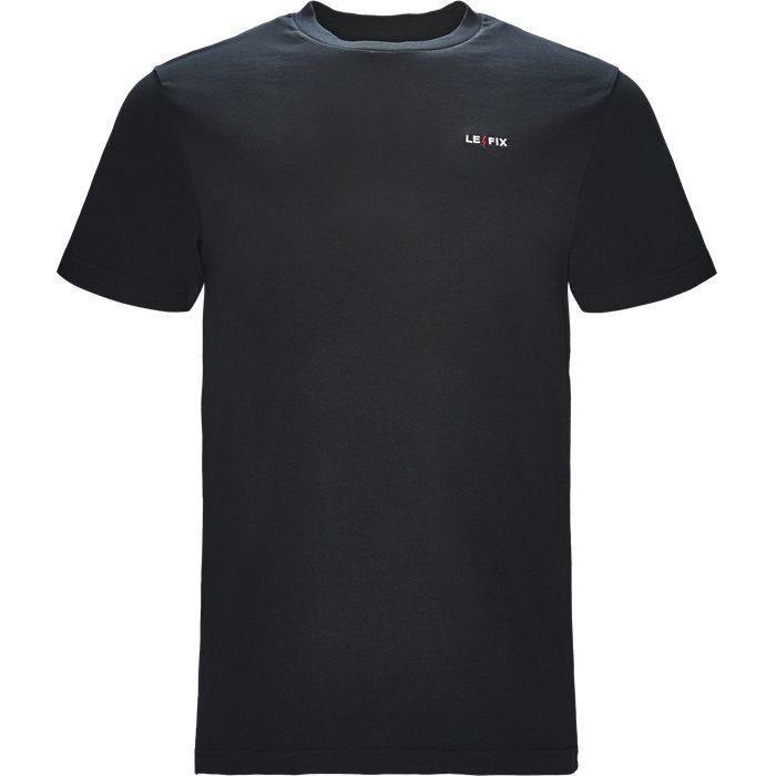 LF EMBROIDERY TEE - T-shirts - Regular fit - Blå