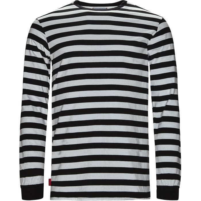 KANDY STRIPE LS - T-shirts - Regular fit - Sort