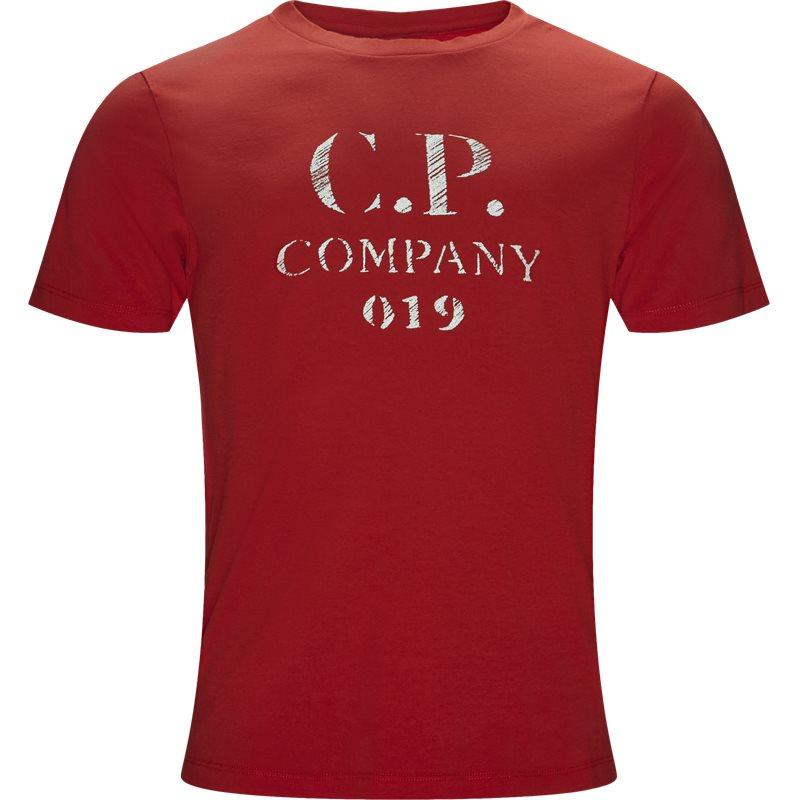Billede af C.P. Company Short Sleeve Jersey T-shirt Rød