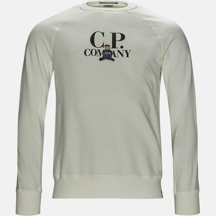 Crew Neck Sweatshirt - Sweatshirts - Regular - Hvid