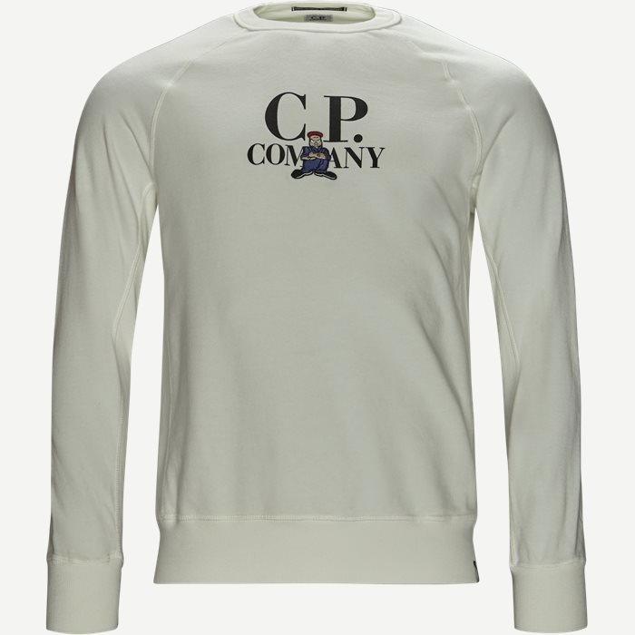 Crew Neck Sweatshirt - Sweatshirts - Regular - Hvid