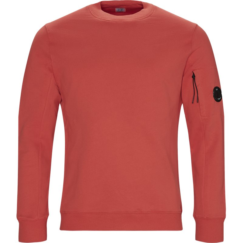 Billede af C.P. Company Crew Neck Diagonal Fleece Sweatshirt Rød