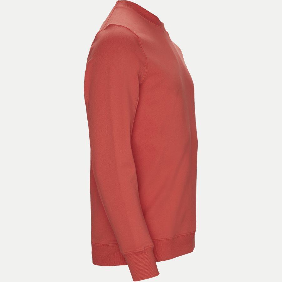SS209A 005160W - Crew Neck Diagonal Fleece Sweatshirt - Sweatshirts - Regular fit - RØD - 3