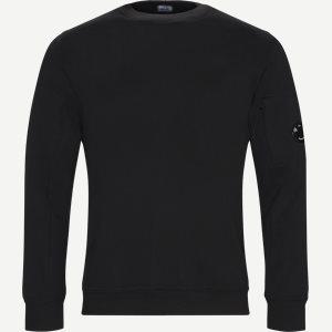 Crew Neck Diagonal Fleece Sweatshirt Regular fit | Crew Neck Diagonal Fleece Sweatshirt | Sort