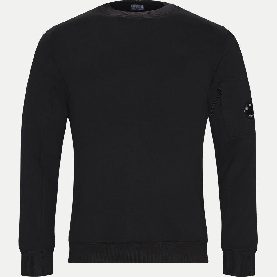 SS209A 005160W - Crew Neck Diagonal Fleece Sweatshirt - Sweatshirts - Regular fit - SORT - 1