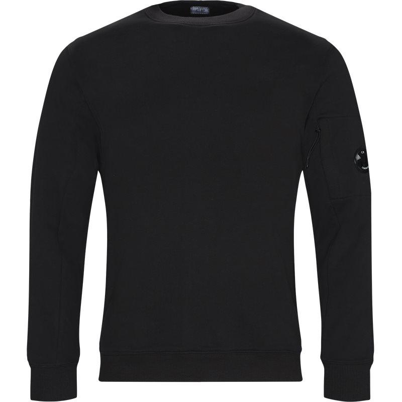 Billede af C.P. Company Crew Neck Diagonal Fleece Sweatshirt Sort