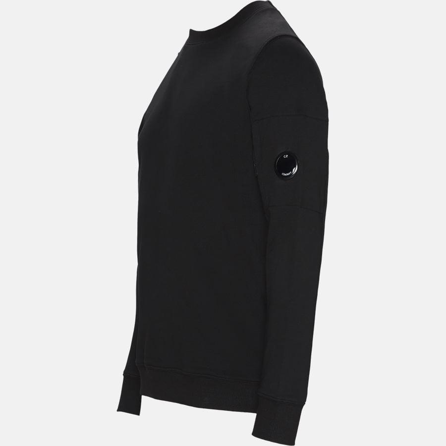 SS209A 005160W - Crew Neck Diagonal Fleece Sweatshirt - Sweatshirts - Regular fit - SORT - 3