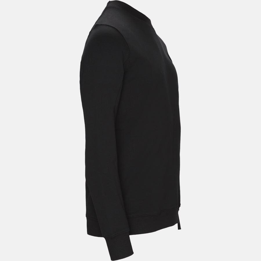 SS209A 005160W - Crew Neck Diagonal Fleece Sweatshirt - Sweatshirts - Regular fit - SORT - 4