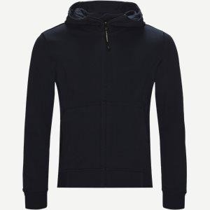 Hooded Open Diagonal Fleece Sweatshirt  Regular fit | Hooded Open Diagonal Fleece Sweatshirt  | Blå
