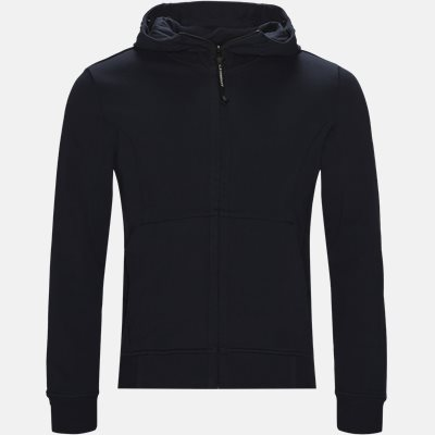 Hooded Open Diagonal Fleece Sweatshirt  Regular | Hooded Open Diagonal Fleece Sweatshirt  | Blå