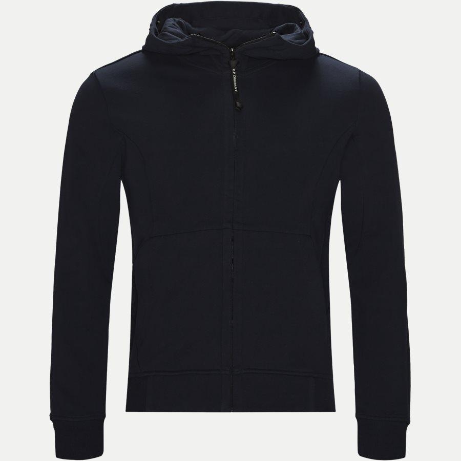 SS009A 005160W - Hooded Open Diagonal Fleece Sweatshirt  - Sweatshirts - Regular fit - NAVY - 1