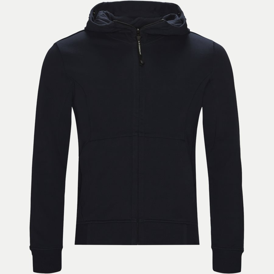 SS009A 005160W - Hooded Open Diagonal Fleece Sweatshirt  - Sweatshirts - Regular - NAVY - 1