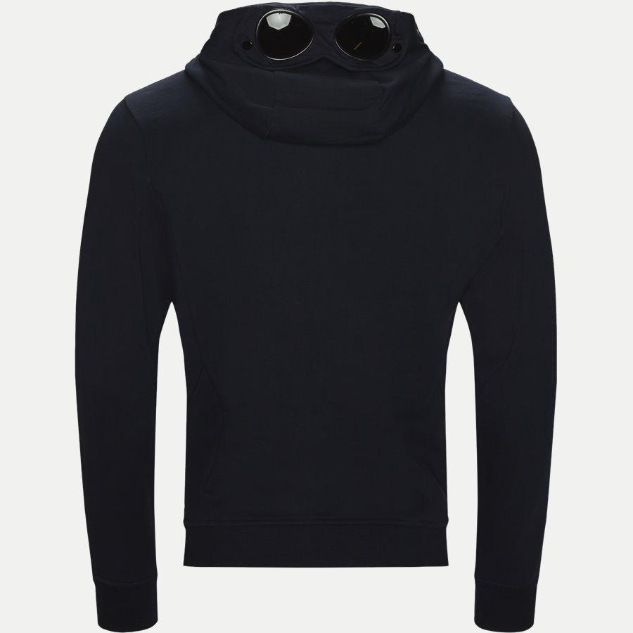 SS009A 005160W - Hooded Open Diagonal Fleece Sweatshirt  - Sweatshirts - Regular fit - NAVY - 2