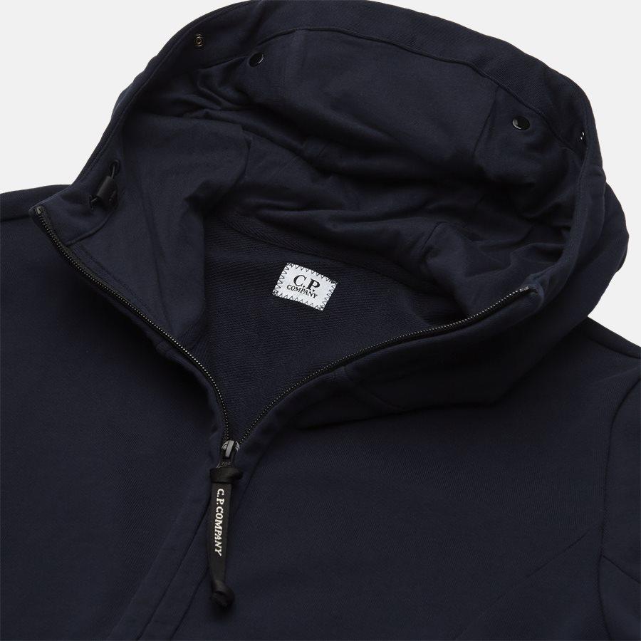 SS009A 005160W - Hooded Open Diagonal Fleece Sweatshirt  - Sweatshirts - Regular fit - NAVY - 3