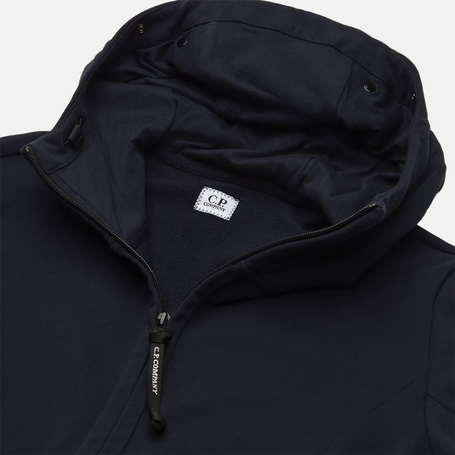 SS009A 005160W - Hooded Open Diagonal Fleece Sweatshirt  - Sweatshirts - Regular - NAVY - 3