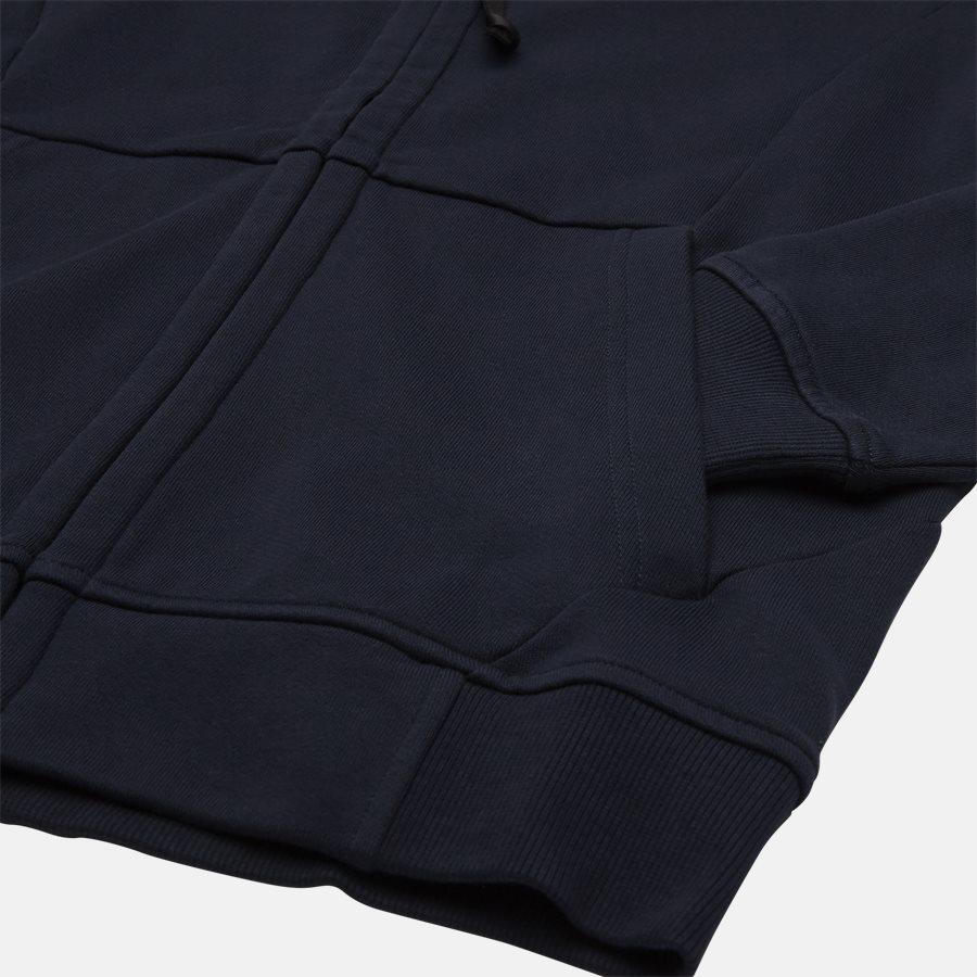 SS009A 005160W - Hooded Open Diagonal Fleece Sweatshirt  - Sweatshirts - Regular fit - NAVY - 4