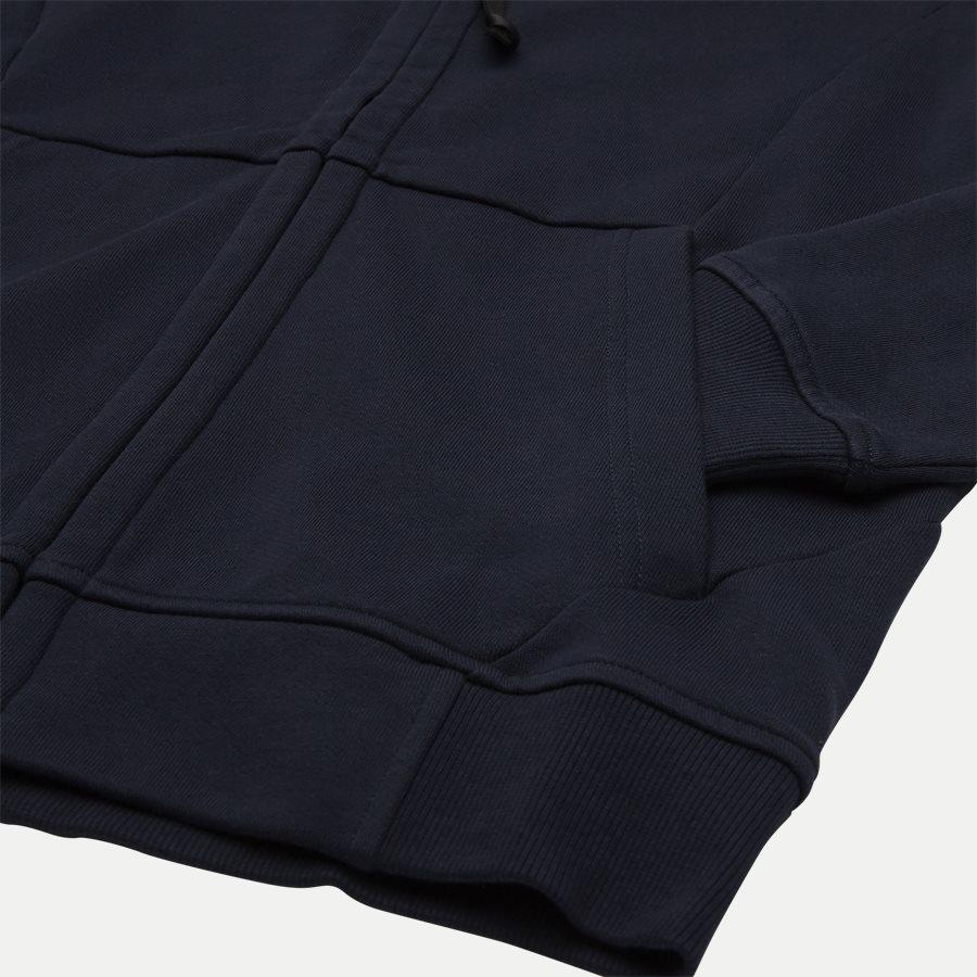 SS009A 005160W - Hooded Open Diagonal Fleece Sweatshirt  - Sweatshirts - Regular - NAVY - 4