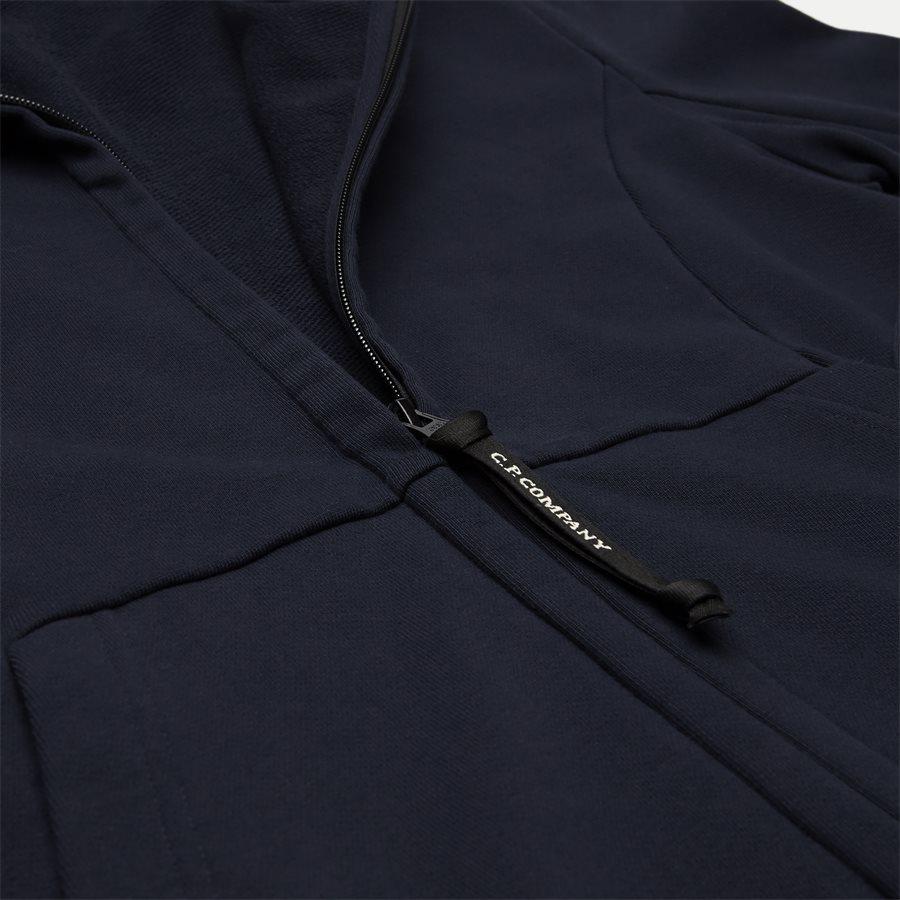 SS009A 005160W - Hooded Open Diagonal Fleece Sweatshirt  - Sweatshirts - Regular fit - NAVY - 5