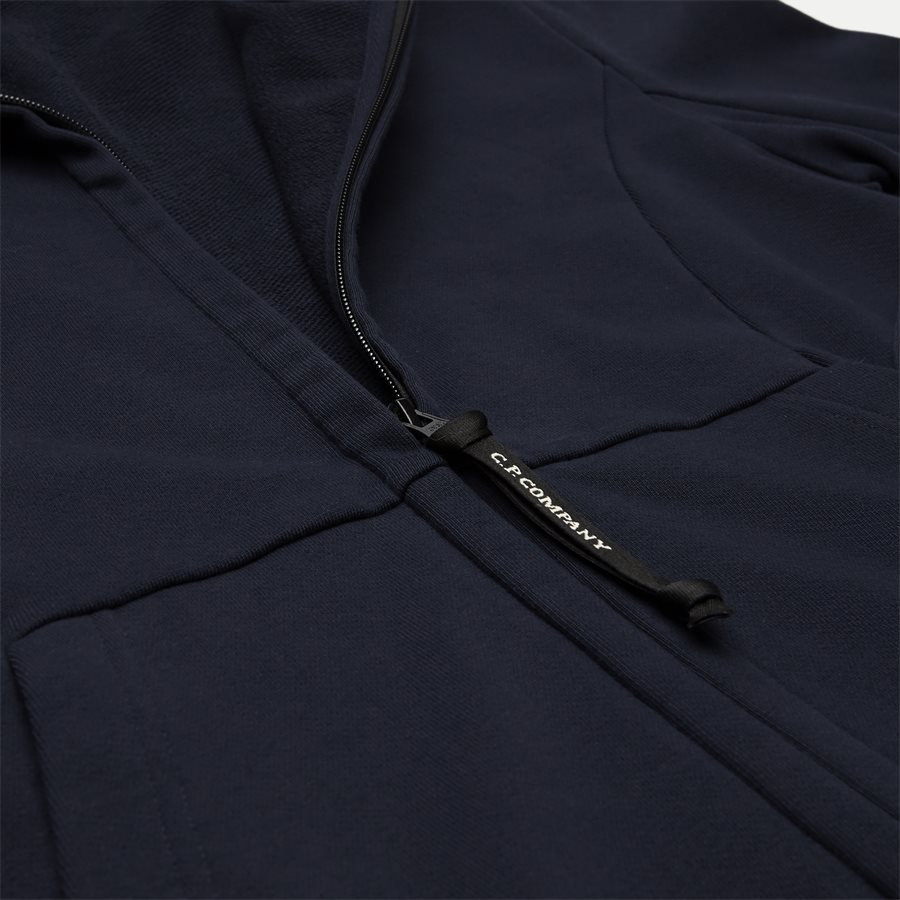 SS009A 005160W - Hooded Open Diagonal Fleece Sweatshirt  - Sweatshirts - Regular - NAVY - 5