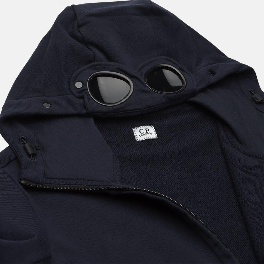 SS009A 005160W - Hooded Open Diagonal Fleece Sweatshirt  - Sweatshirts - Regular fit - NAVY - 6