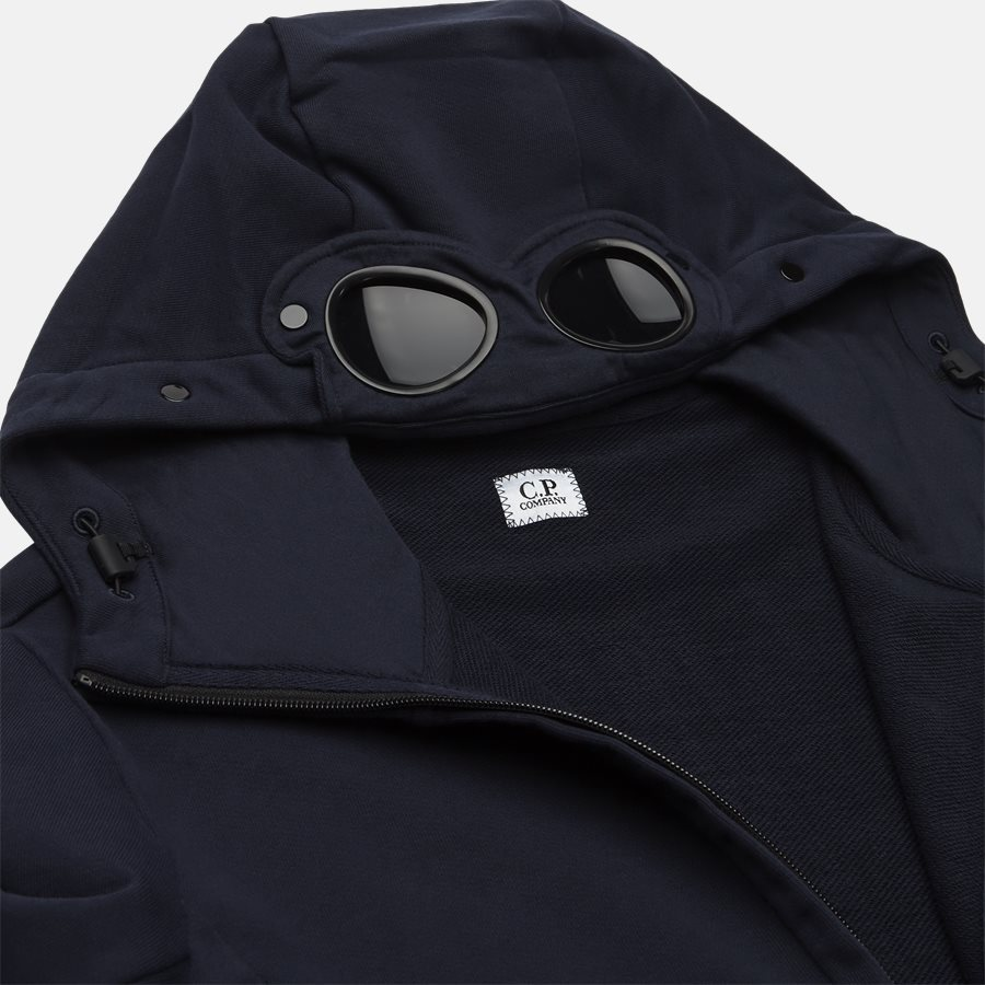 SS009A 005160W - Hooded Open Diagonal Fleece Sweatshirt  - Sweatshirts - Regular - NAVY - 6