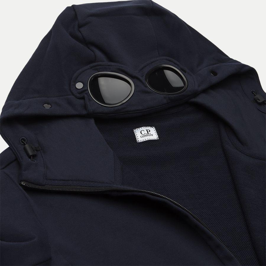 SS009A 005160W - Hooded Open Diagonal Fleece Sweatshirt  - Sweatshirts - Regular - NAVY - 6