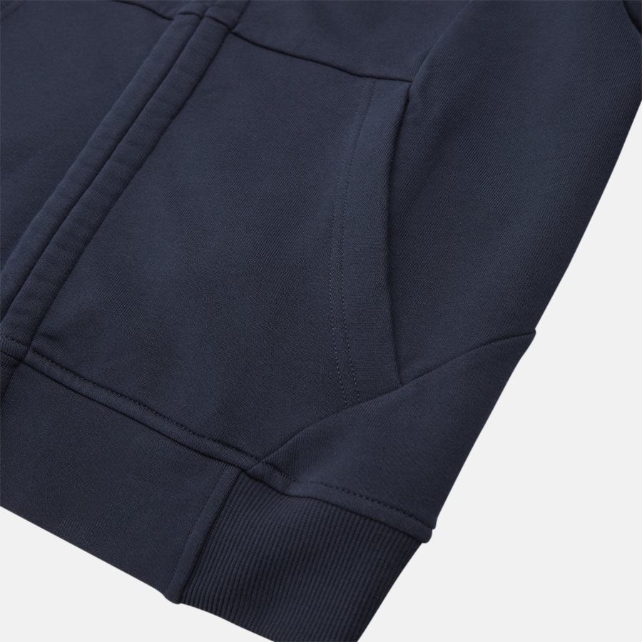 SS009A 005160W - Hooded Open Diagonal Fleece Sweatshirt  - Sweatshirts - Regular - NAVY - 7