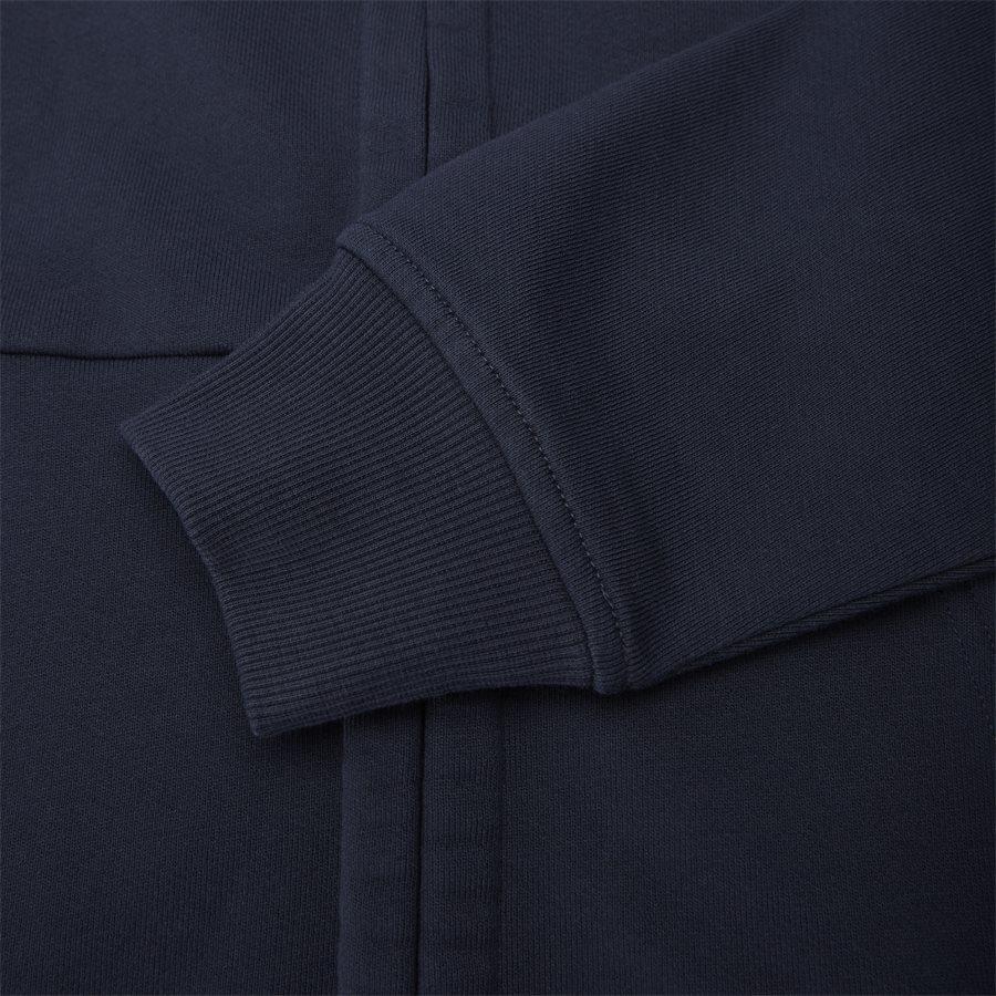 SS009A 005160W - Hooded Open Diagonal Fleece Sweatshirt  - Sweatshirts - Regular fit - NAVY - 8