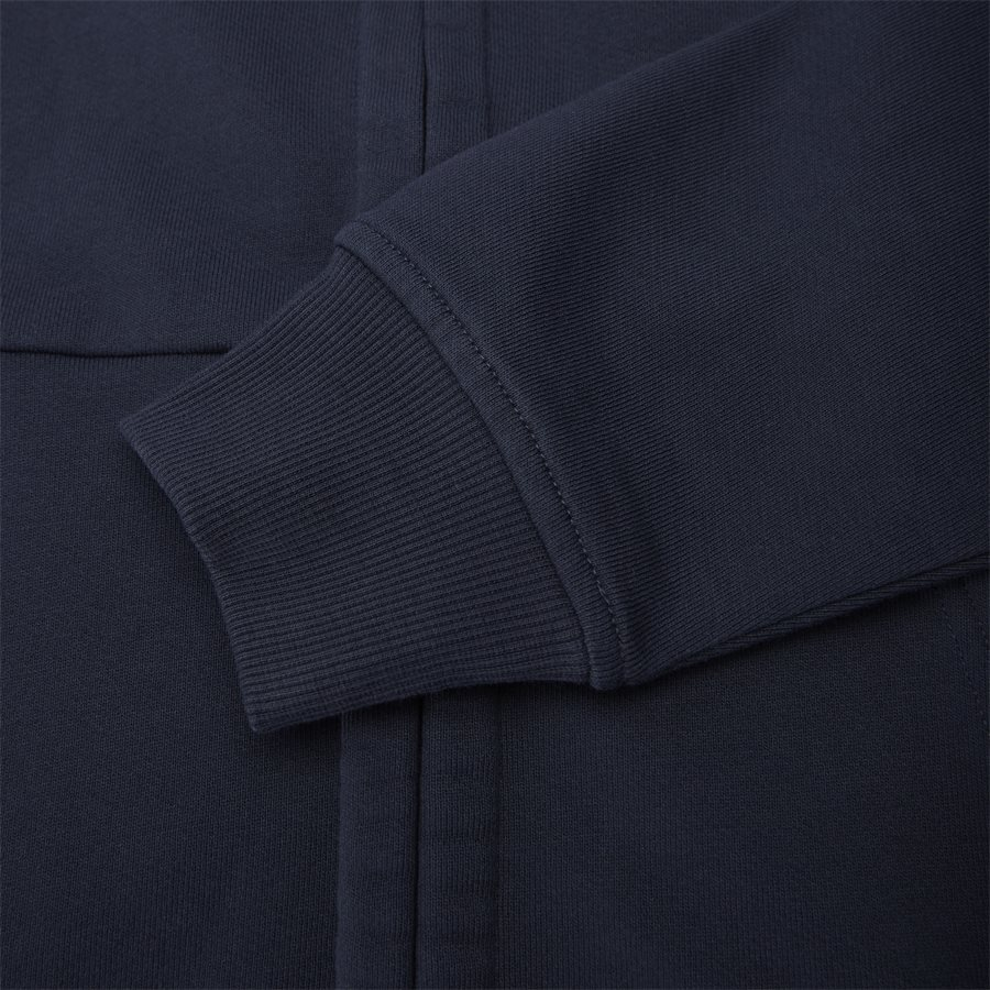 SS009A 005160W - Hooded Open Diagonal Fleece Sweatshirt  - Sweatshirts - Regular - NAVY - 8
