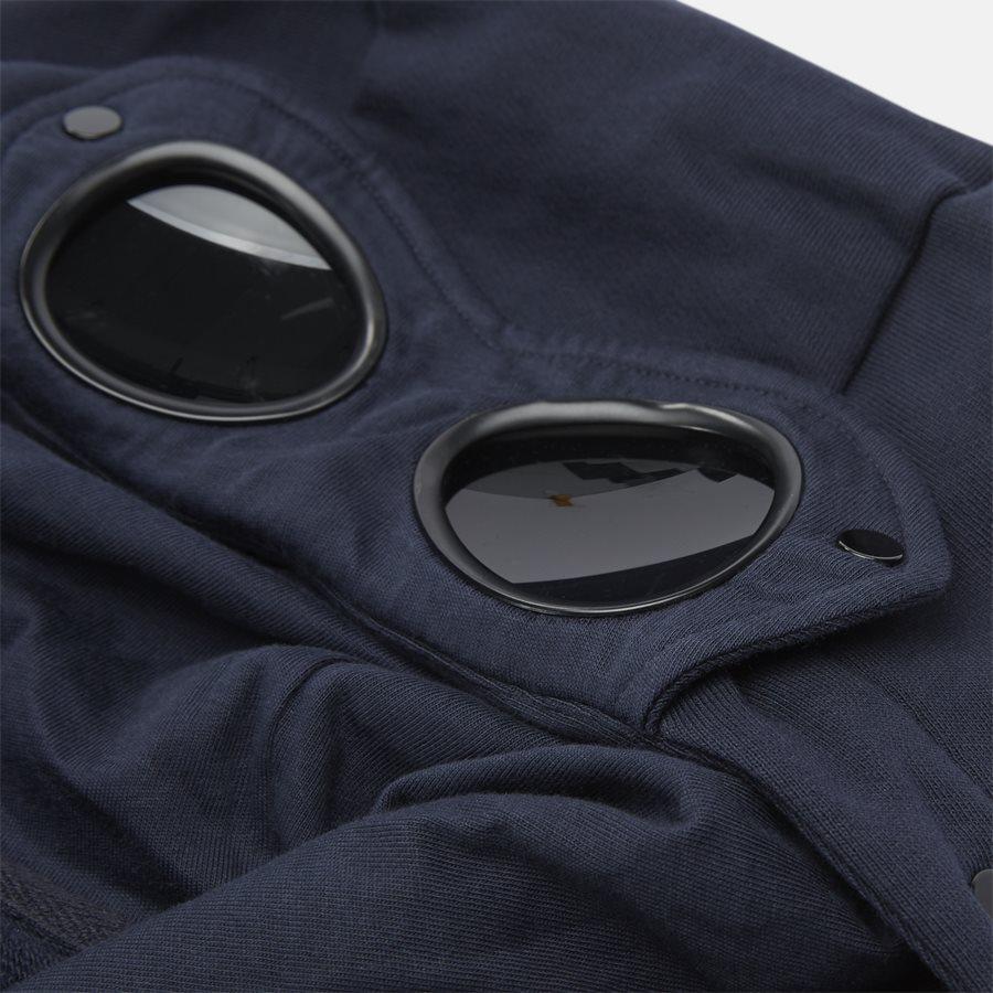 SS009A 005160W - Hooded Open Diagonal Fleece Sweatshirt  - Sweatshirts - Regular fit - NAVY - 9