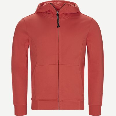 Hooded Open Diagonal Fleece Sweatshirt  Regular fit | Hooded Open Diagonal Fleece Sweatshirt  | Rød