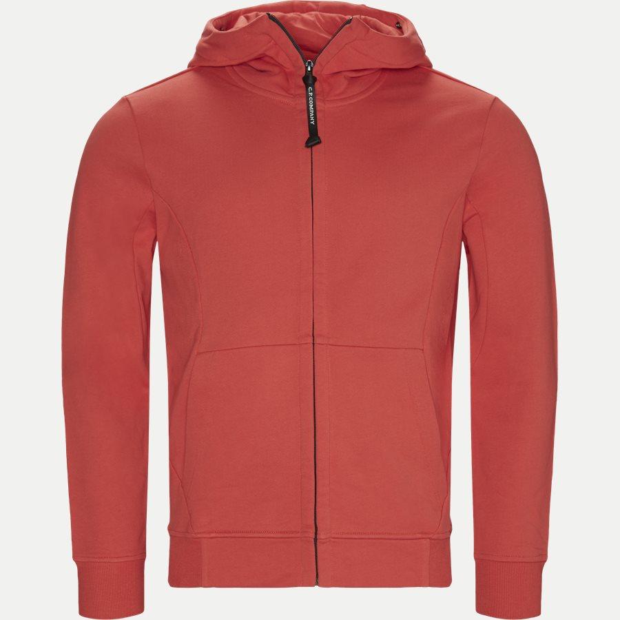 SS009A 005160W - Hooded Open Diagonal Fleece Sweatshirt  - Sweatshirts - Regular - RØD - 1