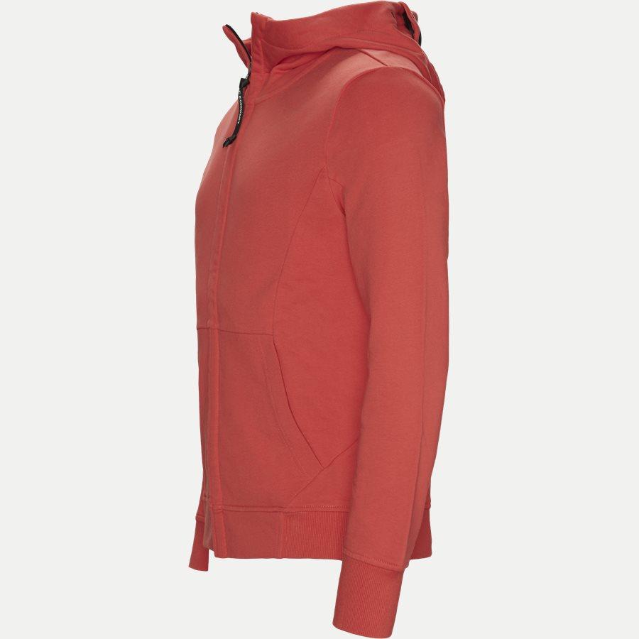 SS009A 005160W - Hooded Open Diagonal Fleece Sweatshirt  - Sweatshirts - Regular - RØD - 3