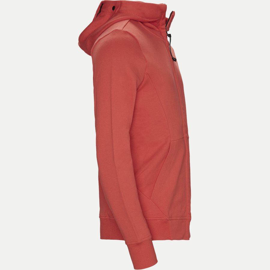 SS009A 005160W - Hooded Open Diagonal Fleece Sweatshirt  - Sweatshirts - Regular - RØD - 4