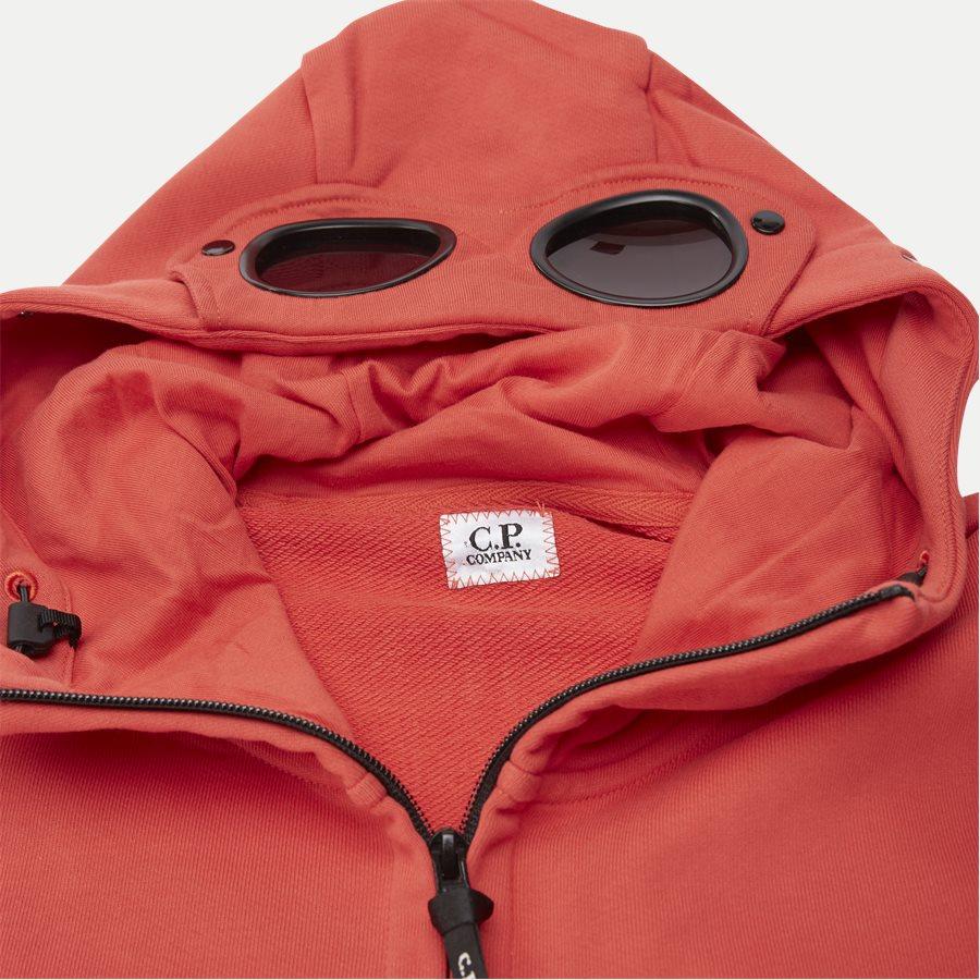 SS009A 005160W - Hooded Open Diagonal Fleece Sweatshirt  - Sweatshirts - Regular - RØD - 5
