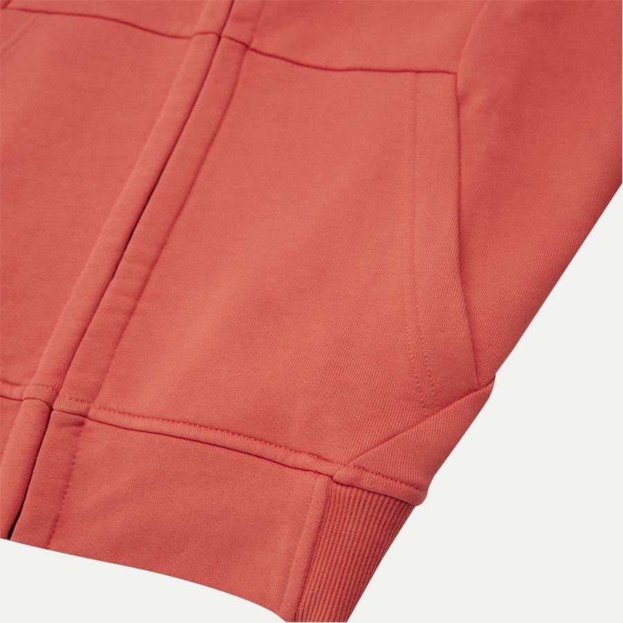 SS009A 005160W - Hooded Open Diagonal Fleece Sweatshirt  - Sweatshirts - Regular - RØD - 7