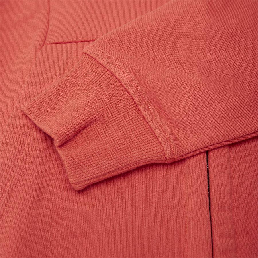 SS009A 005160W - Hooded Open Diagonal Fleece Sweatshirt  - Sweatshirts - Regular - RØD - 8