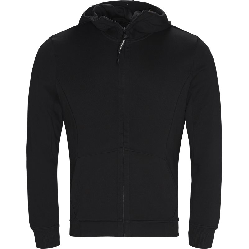Billede af C.P. Company Hooded Open Diagonal Fleece Sweatshirt Sort