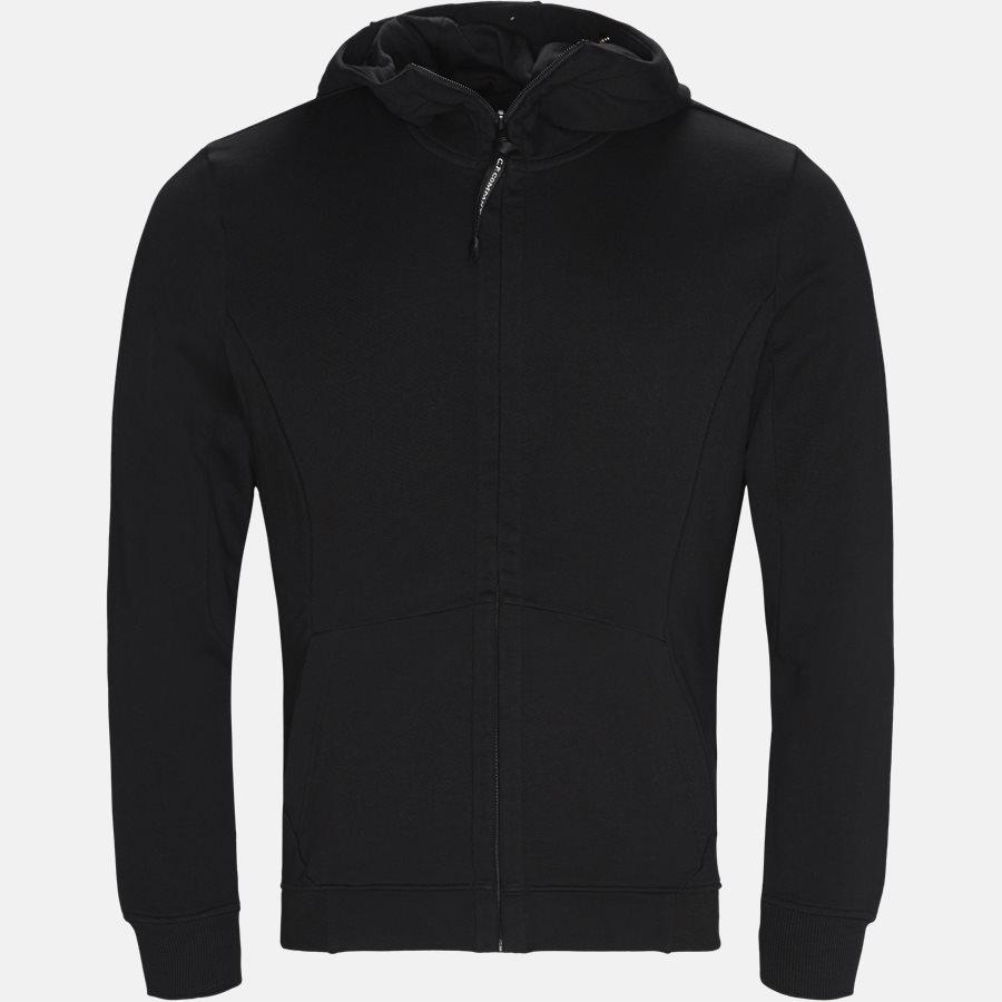 SS009A 005160W - Hooded Open Diagonal Fleece Sweatshirt  - Sweatshirts - Regular - SORT - 1